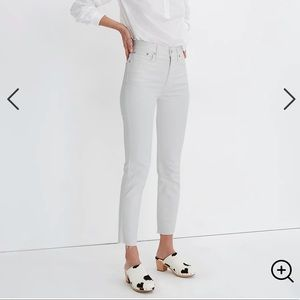 NEW Madewell The Perfect Vintage Crop White Jean